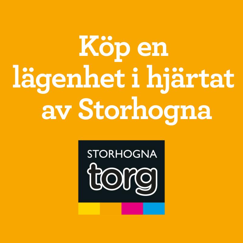 Storhogna Torg– köp en lägenhet i hjärtat av Storhogna!