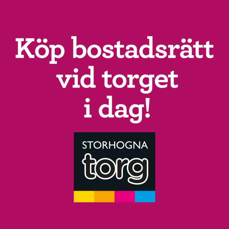 Storhogna Torg– köp en bostadsrätt i hjärtat av Storhogna!